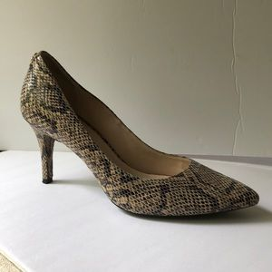 Cole Haan Grand OS Snake Print Leather Pumps Heels